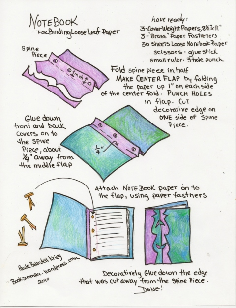How to Bind Loose Leaf Papers by Paula Beardell Krieg