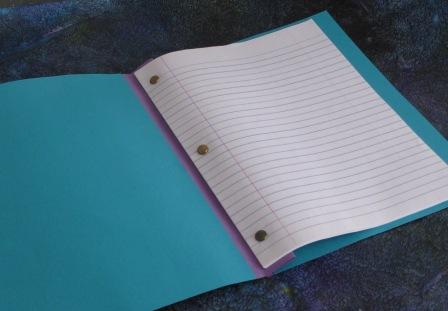 how to make a book journal with loose paper