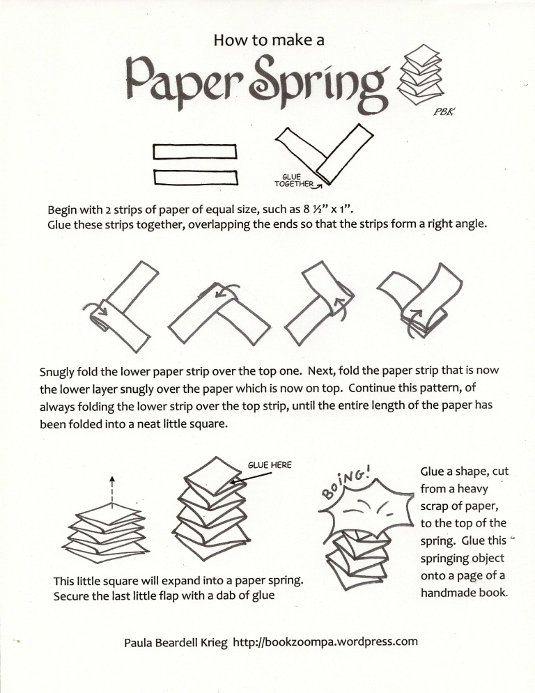 How To Make A Paper Spring Playful Bookbinding And Paper