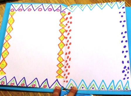 Border Designs by a First Grade Student