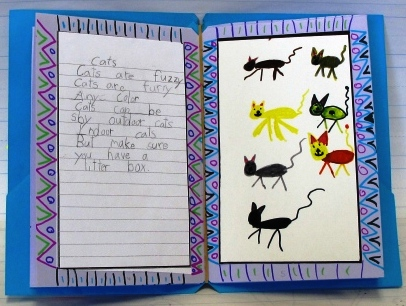 Cat Poem Page by a First Grade Student