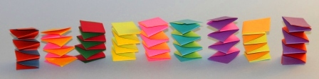 Hand made paper springs