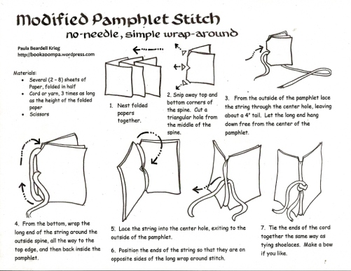 Modified Pamphlet Stitch