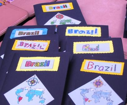 Books about Brazil, done by thrid graders