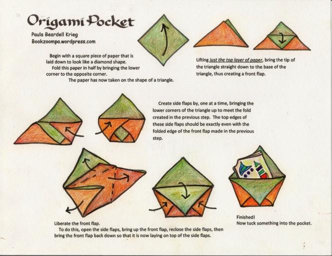 How to make an origami Pocket by Paula Krieg