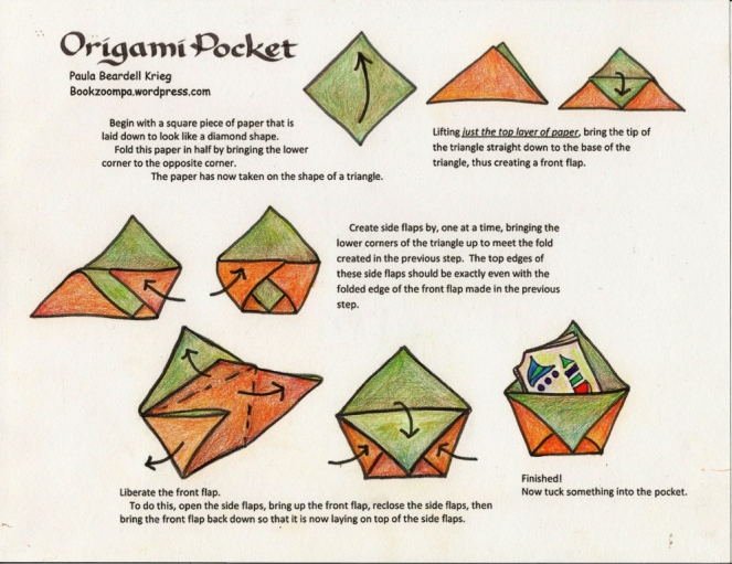 How to make an origami Pocket by Paula Krieg