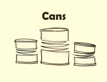 Recycling sign for Cans