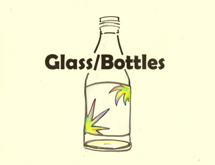 Recycling Sign for Glass Bottles, 8 1/2 x 11 drawing by Paula Beardell Krieg