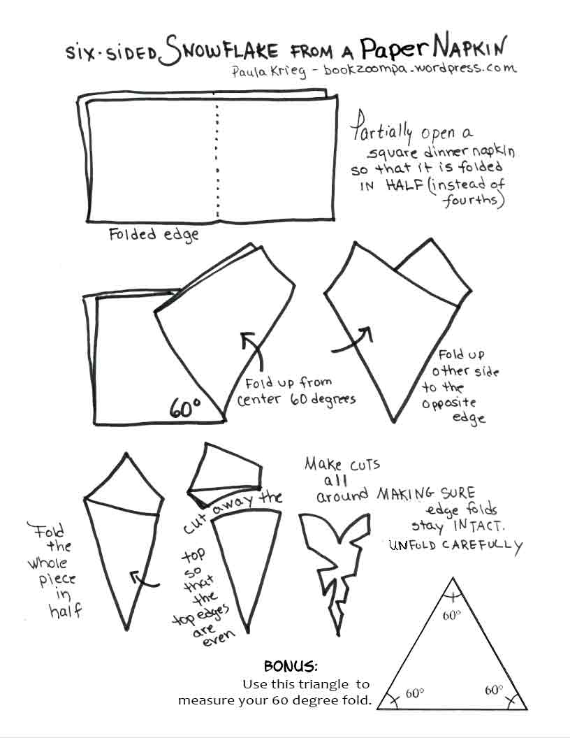 How to make a snowflake out of paper easy step by