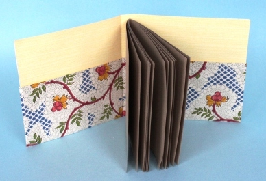 Pocketed Wallpaper-bound book