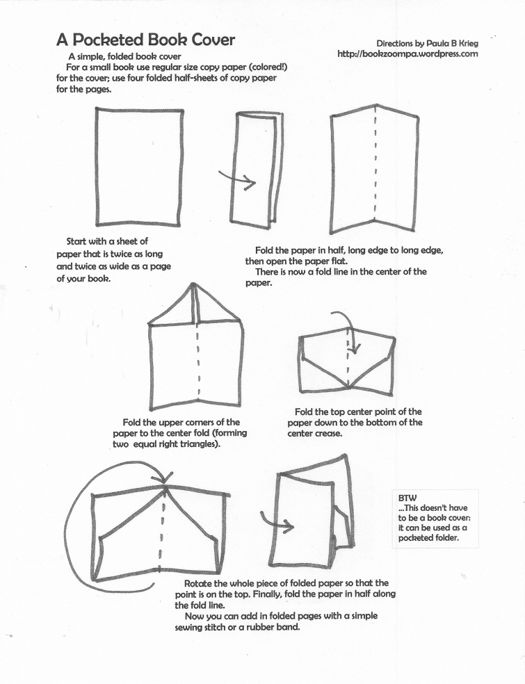How To Make A Book Cover With Printer Paper ~ Folded paper pocket playful bookbinding and works
