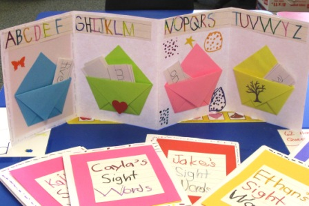 An Accordion Book with Pockets for Kindergarten Sight Words