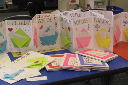 Books made by Kindergarteners