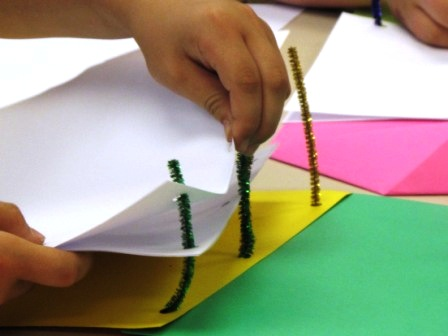 adding pages to the pipe cleaners