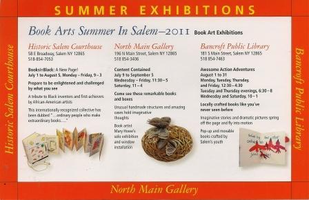 Book Arts Summer In Salem, annoucement