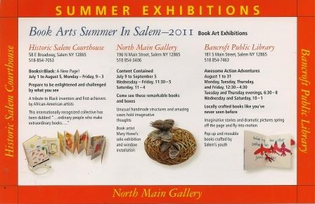 Book Arts Summer In Salem, annoucement