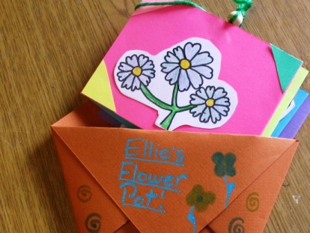 Flower for Flower Pot Book, by a Third Grader