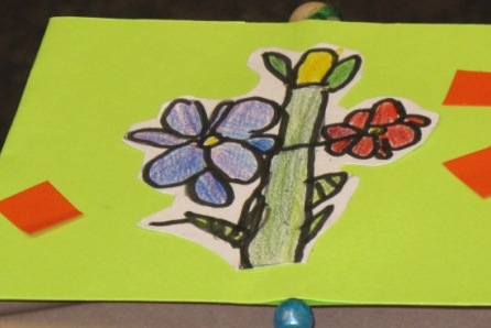 A sample of a raceme-type flower, by a third grader