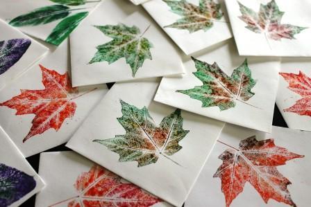 Elementary Nature Printing – Loose Leaf Paper Print