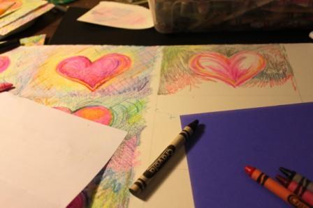 Valentines in progress
