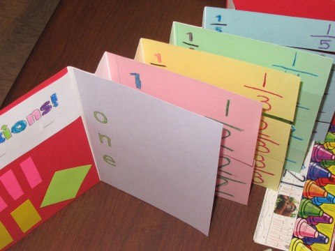 Accordion Book With Tipped on Fraction Pages