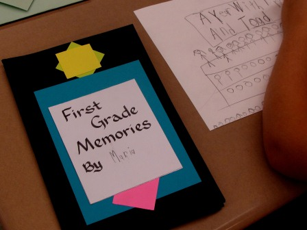 Maria's First Grade Memories Book