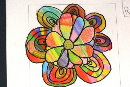 Flower for Flower Pot Book, by a Second Grader