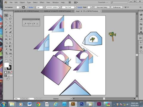 learning how to work in illustrator