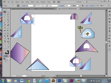 Screen shot of Adobe Ilustrator