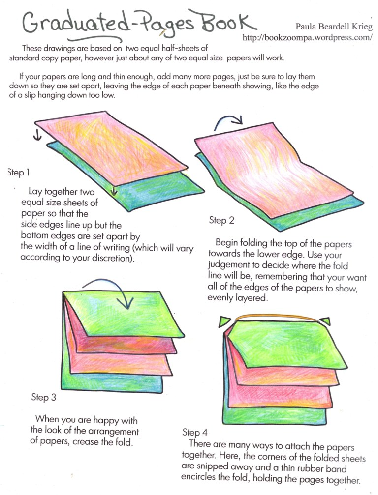 How To Make A Bookend : How to make a graduated pages book playful bookbinding