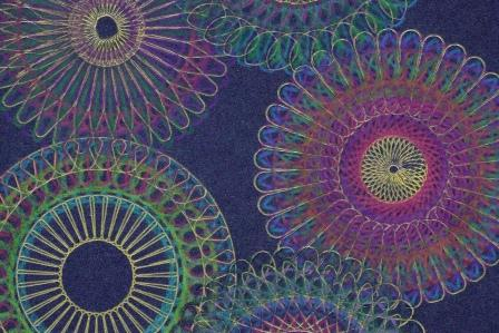 Images made with Klutz spirograph wheels