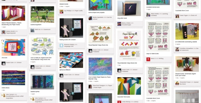 Part of Pinterest Page for Bookzoompa