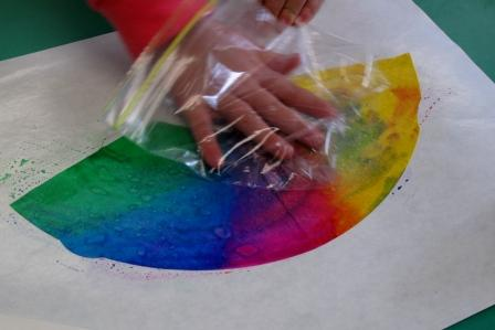 Smooching the colors around