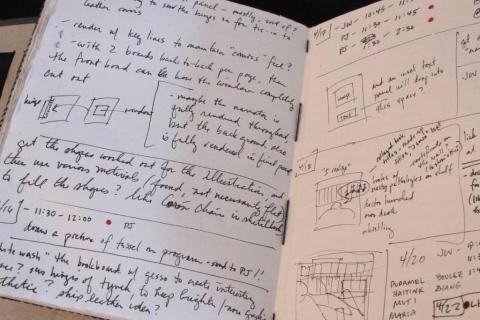 Sheehy notebook, open