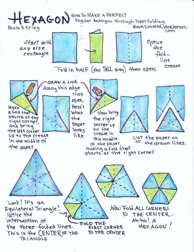 Paper Folding and the Regular Hexagon by Paula Krieg
