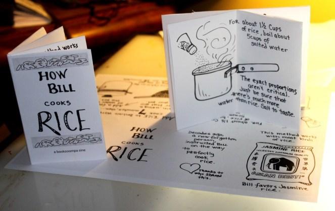 Zine of How Bill Cooks Rice
