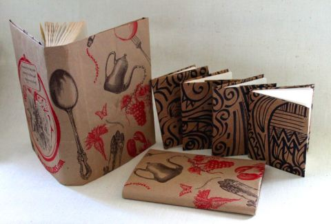 grocery bag book covers