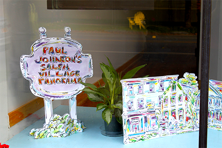 Paul Johnson's Salem Village Panorama sign