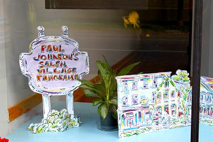 Paul Johnson's Salem Village Panorama sign
