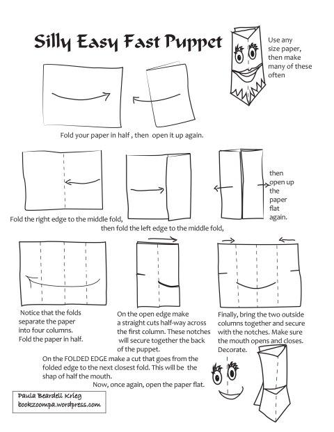 Silly Easy Fast Puppet tutorial by Paula Beardell Krieg
