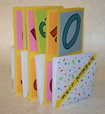 Envelope Number Line Book, Paula Beardell Krieg