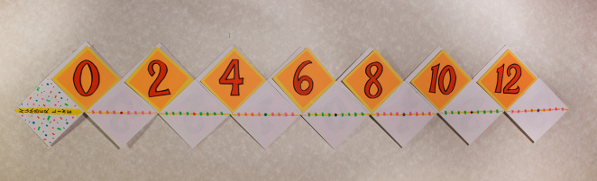 number line evens