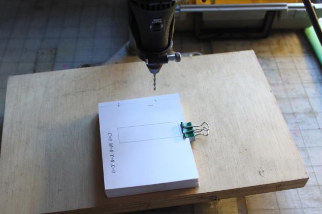 flip book drill inner holes