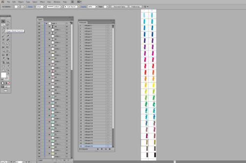 Flip Book Scrren Shot, 48 artboards in Illustrator