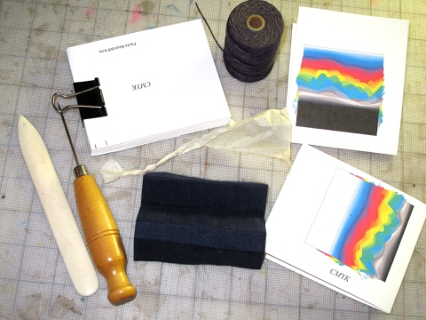 Gathering materials for bookbinding