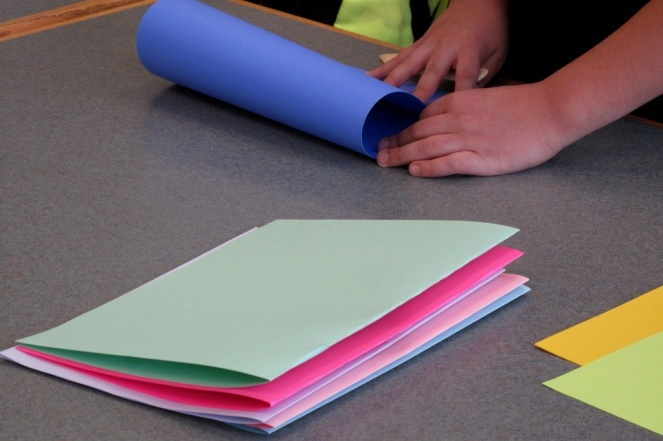 These papers will  get nested together in groups of two.