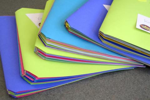 Book made with humongous rubber bands