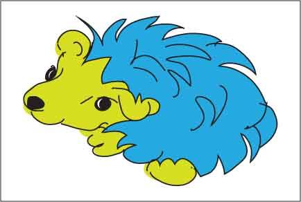 Hedgehog drawn by Paula Krieg