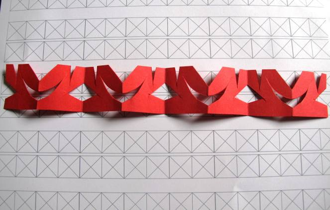 Vertical Strip Symmetry from an accordion folded strip