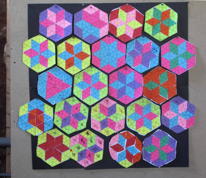 Paper Hexagon Quilt